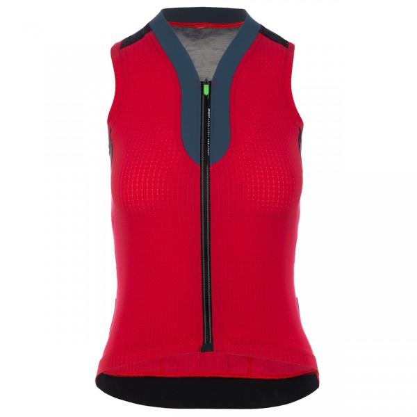 Q36.5 Jersey sleeveless L1 Woman - red pinstripe