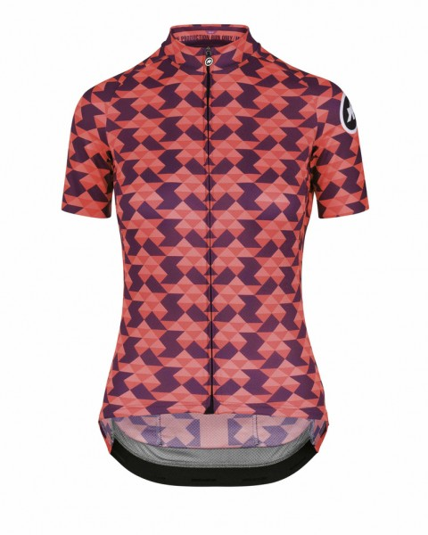 Assos FASTLANE Women`s Crazy Diamond SS Jersey - Solitaire Red