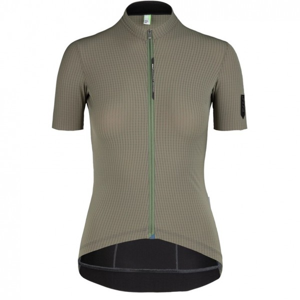 Q36.5 Jersey Short Sleeve L1 Woman Pinstripe X - olive green